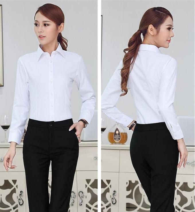 女士白色衬衫
