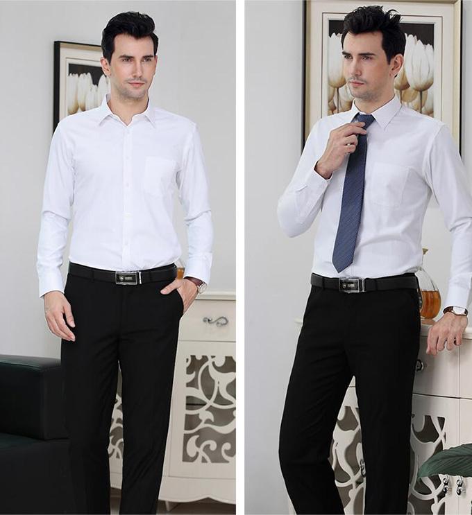 男士白色衬衫定做